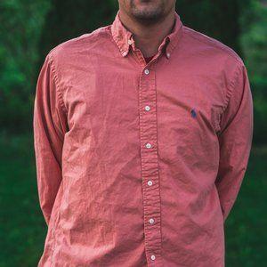 Ralph Lauren Salmon Long Sleeve Button Up